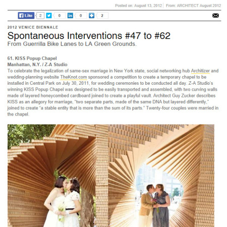 2012_Architect Magazine_KISS Pop-Up Chapel